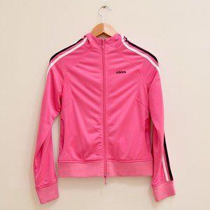 adidas 3 stripes retro y2k pink track jacket